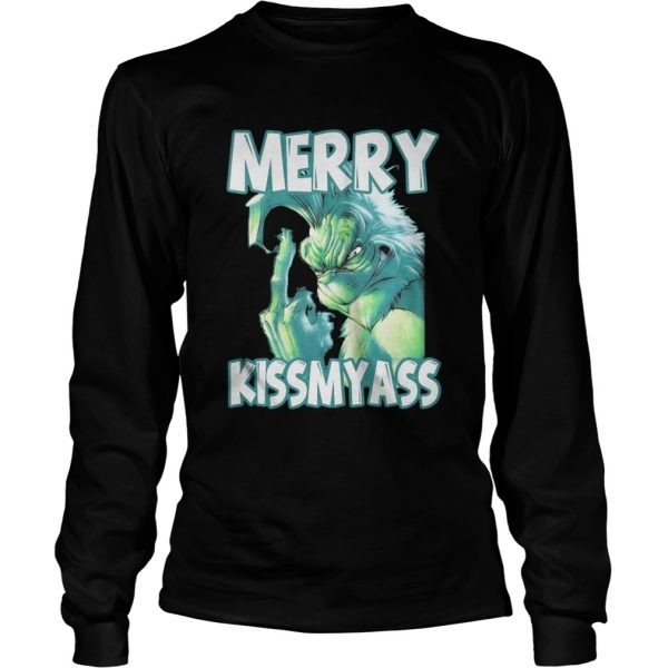 The Grinch Merry Kissmyass shirt Longsleeve Tee Unisex