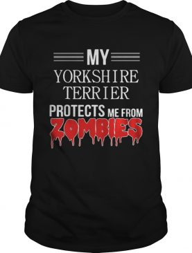 Zombie Yorkshire Terrier Dog shirt