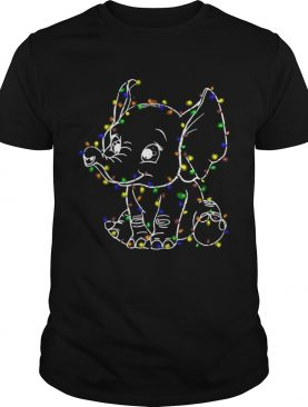 Elephant christmas light shirt