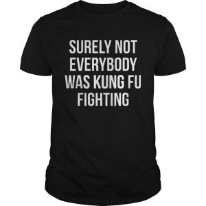 Surely Not Everybody Was Kung Fu Fighting TShirt Shirt