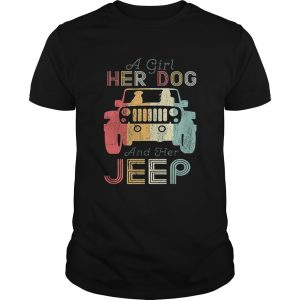 A girl her dog and her jeep shirt Shirt