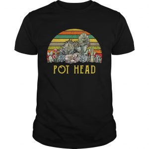 Vintage succulent plants pot head shirt Shirt