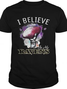 I believe in my Baltimore Ravens shirt