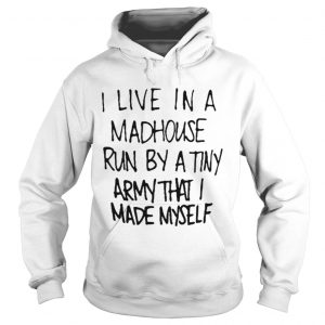 I live in a madhouse run by a tiny army that I made myself shirt Ladies V-Neck