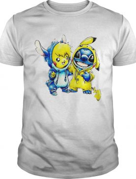 Baby Stitch and Pikachu shirt