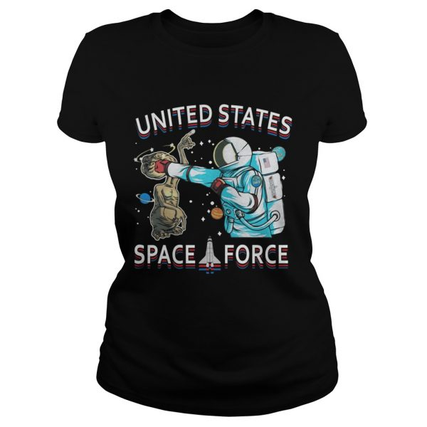 United States space force astronaut punching alien  Classic Ladies
