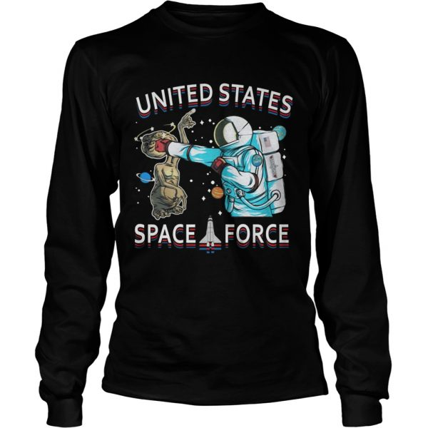 United States space force astronaut punching alien  LongSleeve