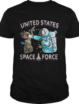 United States space force astronaut punching alien shirt