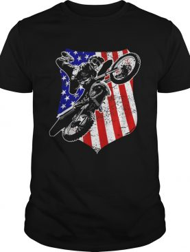 Dirt Bike Motocross 4th of July shirt