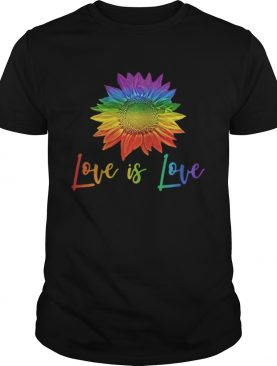 LGBT sunflower love is love shirt