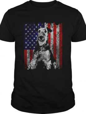 Patriotic Airedale Terrier American Flag Dog Gifts shirt