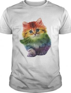Rainbow Cat LGBT Pride Month TShirt