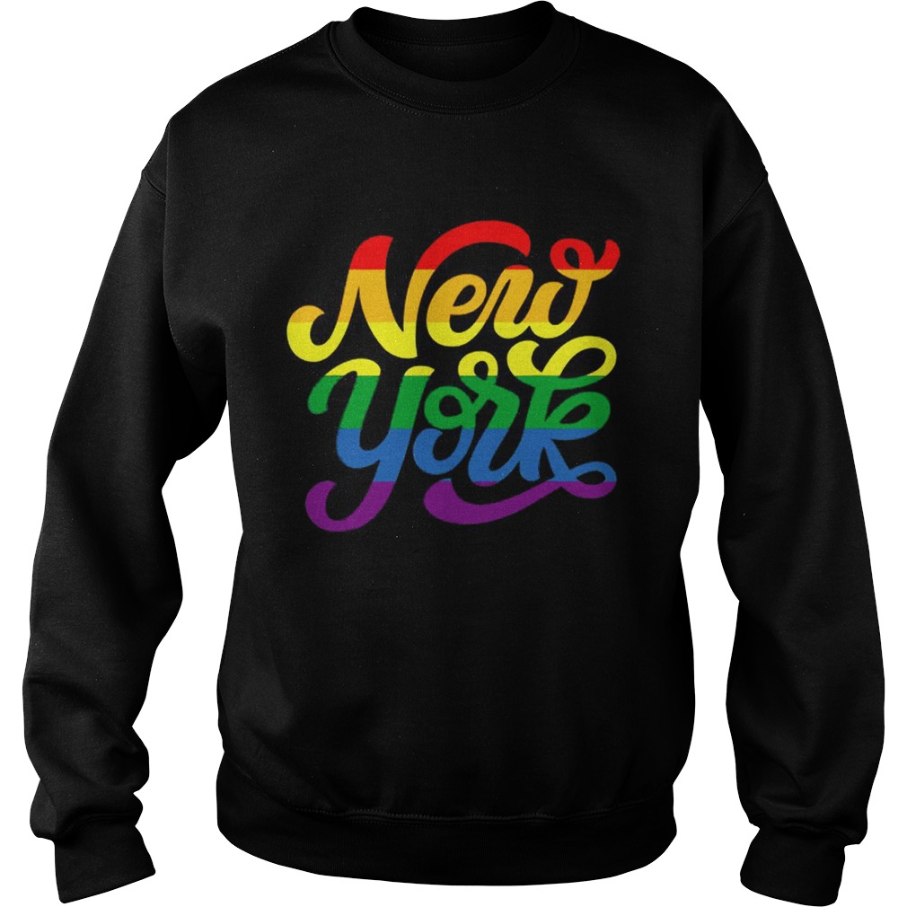 Rainbow New York NYC World Pride LGBT 2019  Sweatshirt
