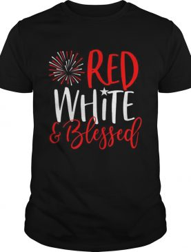 Red White And Blessed 4th of July Cute Patriotic America shirt