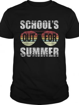 Retro Last Day Of School Schools Out For Summer Teacher Gift TShirt