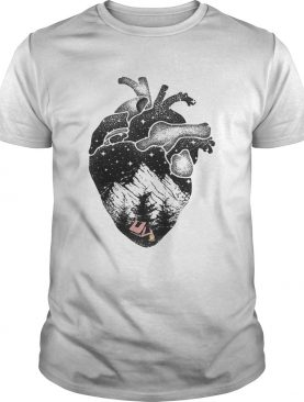 The landscapes inside the heart shirt