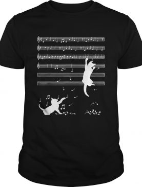 Cats Playing Musical Notes And Make It Down shirt