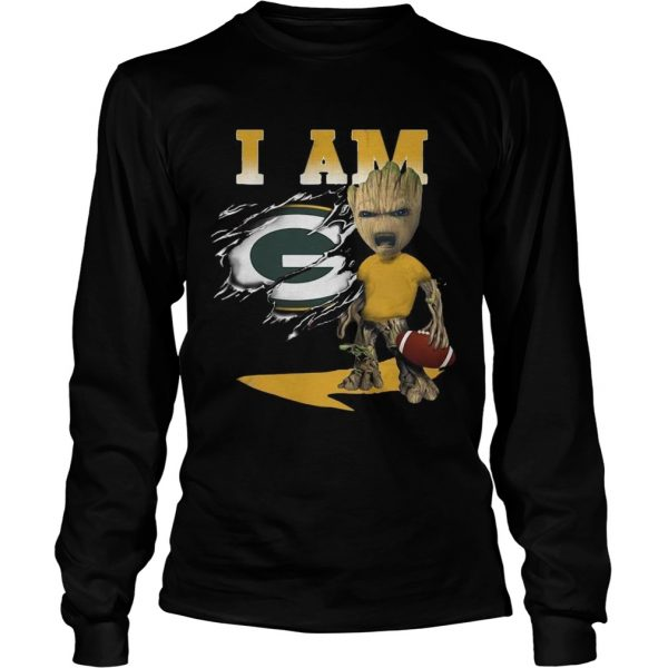 I Am Green Bay Packers Baby Groot  LongSleeve
