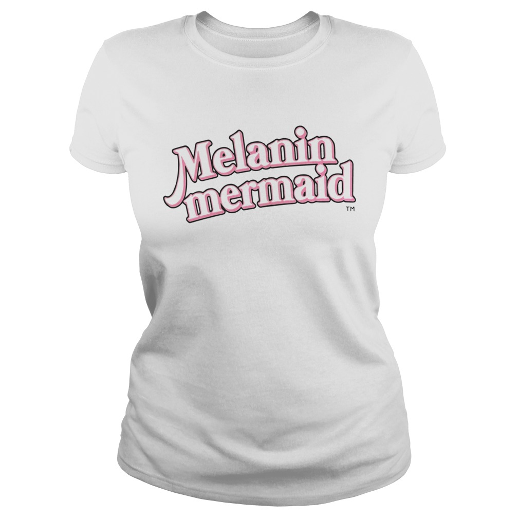 Melanin Mermaid Shirt Classic Ladies