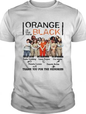 Orange black is the new thank you for the memories signature shirt