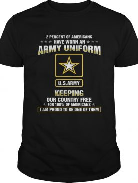 Percent of Americans have worn an air force uniform keeping our country free shirt