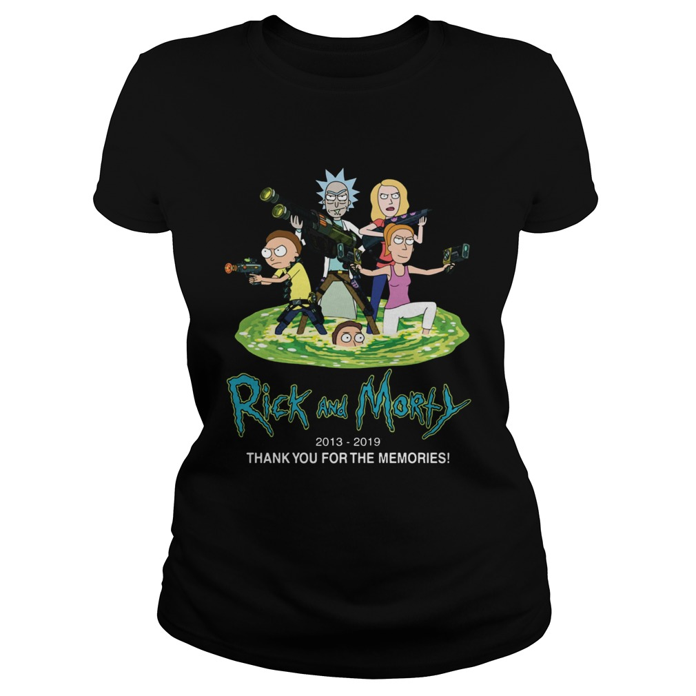 Rick and Morty 2013 2019 thank you for the memories  Classic Ladies