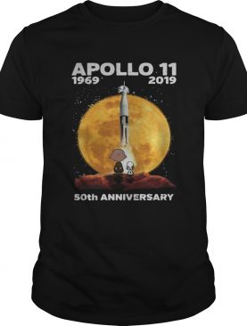 Snoopy and Charlie Brown watching Apollo 11 1969 2019 50th