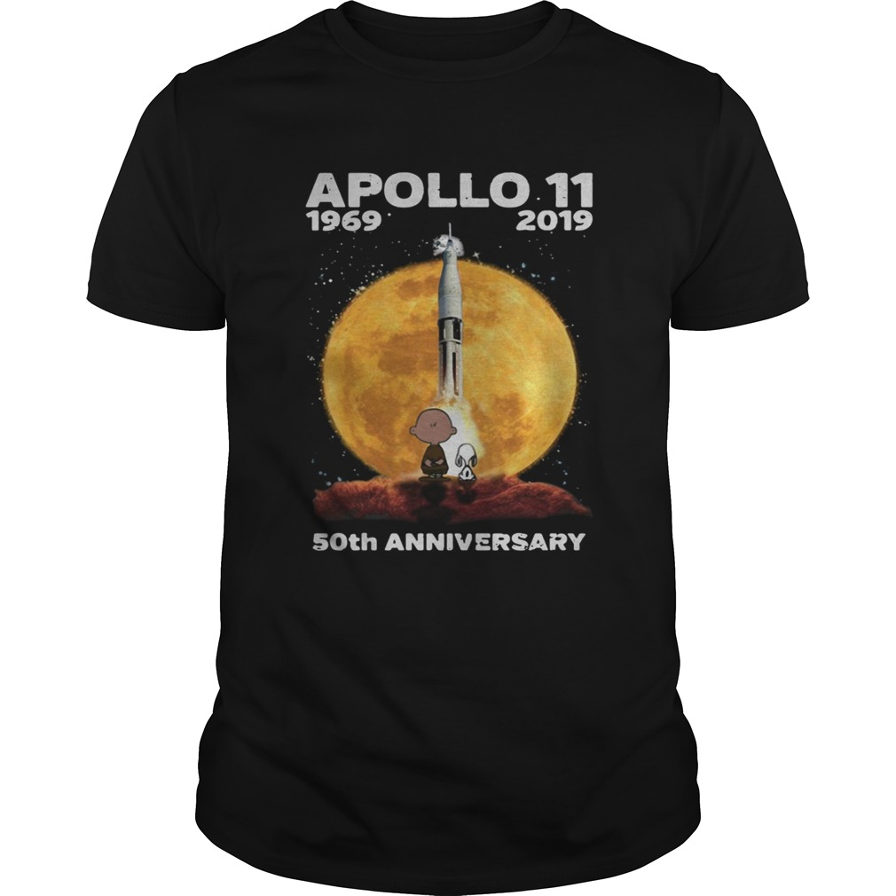 Snoopy and Charlie Brown watching Apollo 11 1969 2019 50th Unisex