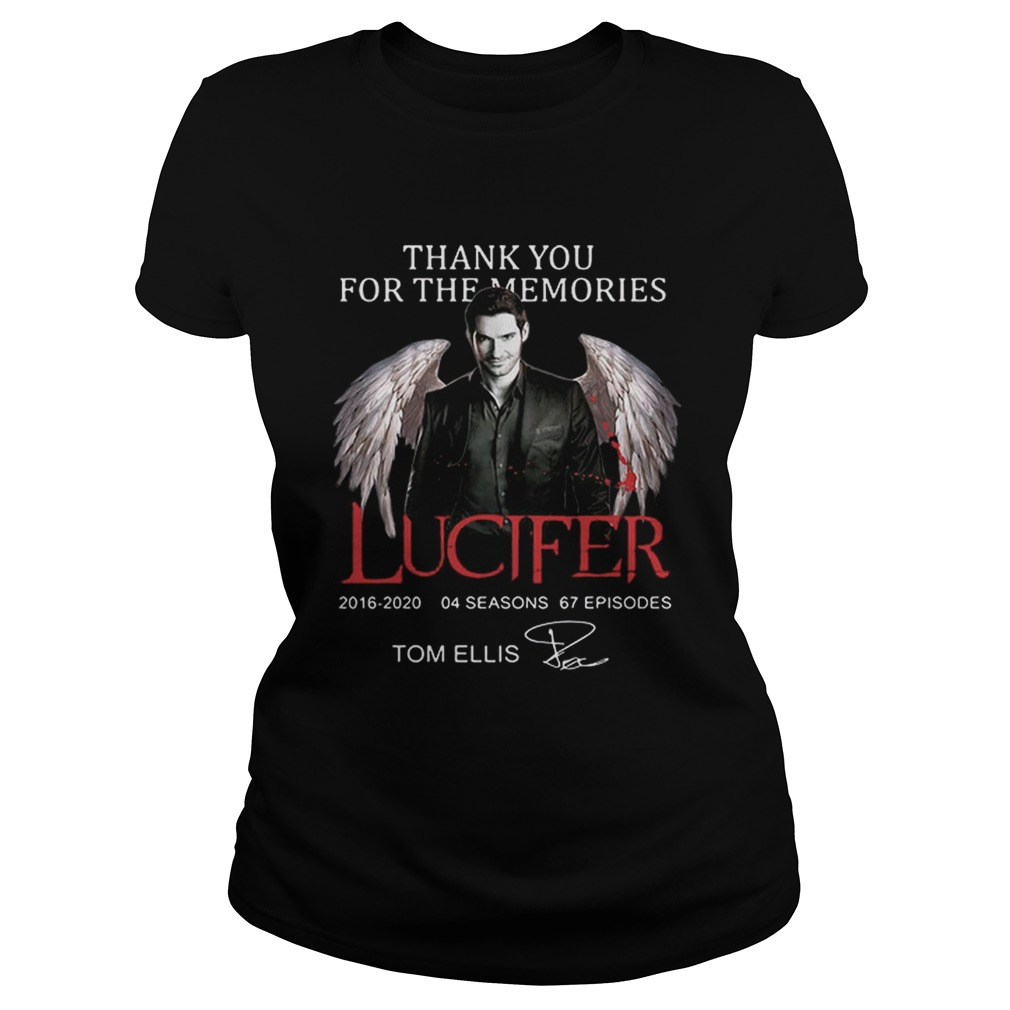 Tom Ellis Thank you for the memories Lucifer signature  Classic Ladies