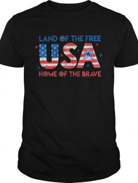 Usa Home Of The Free Land Of The Brave 4th Of July Flag shirt