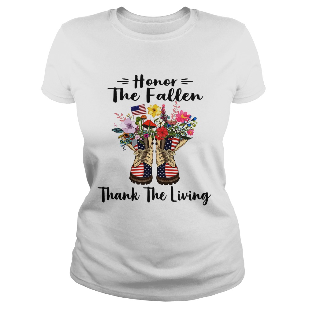 Veteran boots flower honor the fallen thank the living 4th of July independence day  Classic Ladies