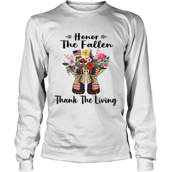 Veteran boots flower honor the fallen thank the living 4th of July independence day  LongSleeve