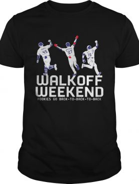Walk Off Weekend Rookies Go Back To Back To Back Shirt
