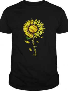 You Are My Sunshine Sunflower Softball shirt