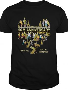 50th anniversary Scooby doo 19692019 thank you for the memories shirt