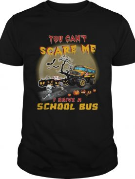 Halloween you cant scare me I drive a school bus shirt