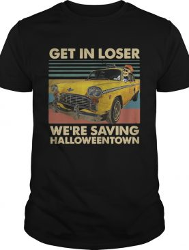 Skeleton Taxi get in loser were saving Halloweentown vintage shirt