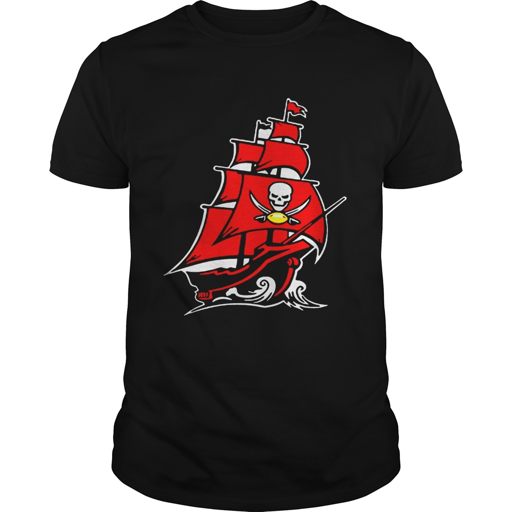promo code 34379 6bf72 Tampa Bay Buccaneers Pirate Ship Tshirt