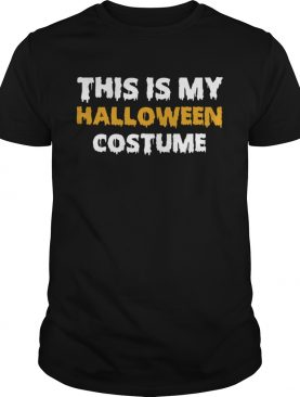 Vintage This Is My Halloween Costume TShirt
