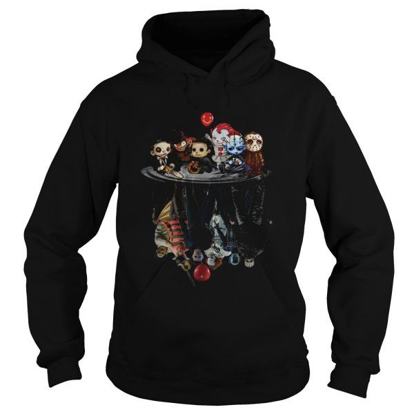 Chibi Horror Movies Characters Reflection Halloween  Hoodie