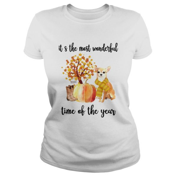 Halloween Chihuahua Its The Most Wonderful Time Of The Year Shirt Classic Ladies