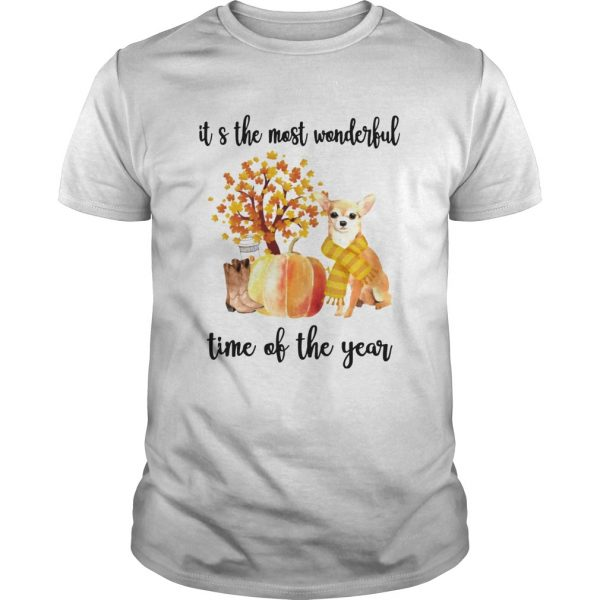 Halloween Chihuahua Its The Most Wonderful Time Of The Year Shirt Unisex