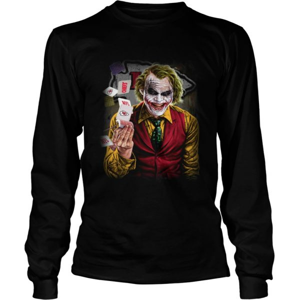 Kansas City Chiefs Joker Poker Shirt LongSleeve