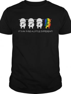 LGBTcow Its ok to be a little different t shirt