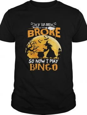 My Broom Broke So Now I Play Bingo Funny Sarcasm Shirt