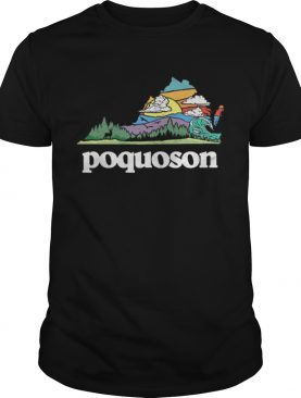 Retro Poquoson Virginia Outdoors Nature Lover shirt