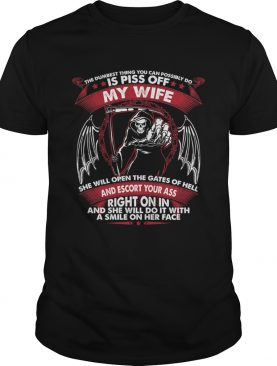 The Dumbest Thing You Can Possibly Do Is Piss Of My Wife Shirt