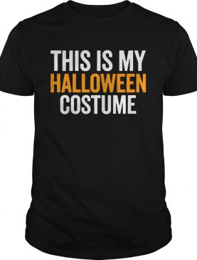 Vintage This Is My Halloween Costume Funny Retro Shirt