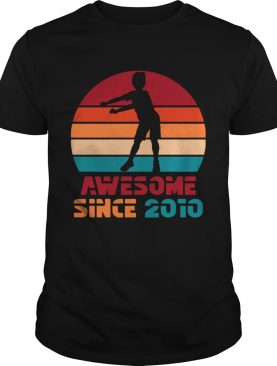 1572270906Vintage Retro Floss Dance 9th Birthday Gift For 9 Year Old T-Shirt