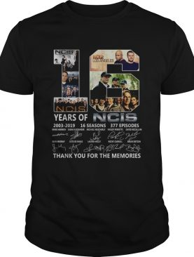 16 Years of Ncis 2003 2019 16 seasons 337 episodes thank you for the memories shirt